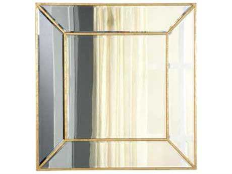 Elegant Lighting Manhattan 40'' Square Gold & Clear Wall Mirror