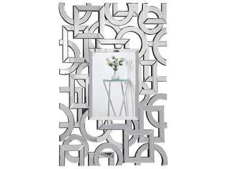Elegant Lighting Modern 34''W x 47''H Clear Wall Mirror