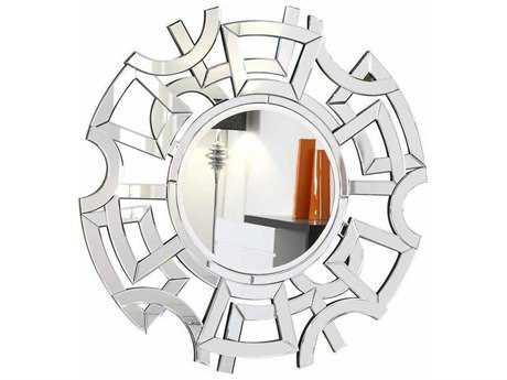Elegant Lighting Modern 46'' Round Clear Wall Mirror