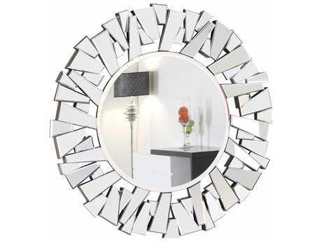 Elegant Lighting Modern 47'' Round Clear Wall Mirror