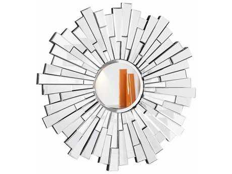 Elegant Lighting Modern 47.5'' Round Clear Wall Mirror