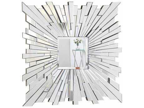 Elegant Lighting Modern 47'' Square Clear Wall Mirror