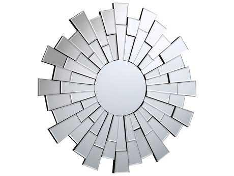 Elegant Lighting Modern 35.5'' Round Clear Wall Mirror
