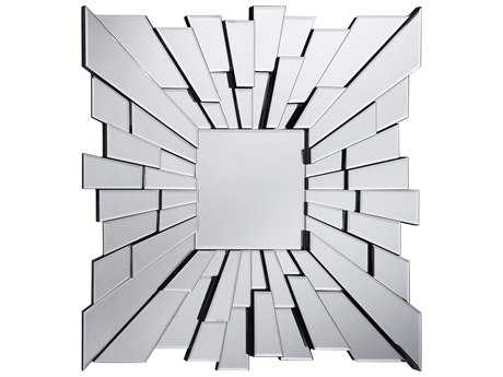 Elegant Lighting Modern 35.5'' Square Clear Wall Mirror