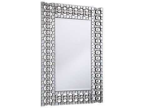 Elegant Lighting Modern 31''W x 46''H Clear Crystal Wall Mirror