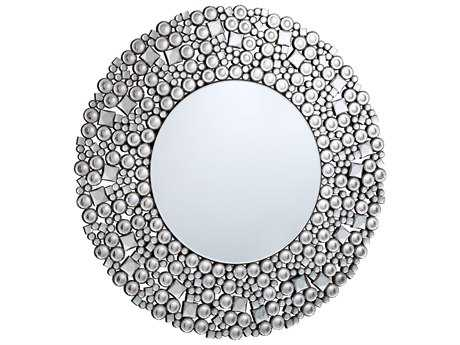Elegant Lighting Modern 35.5'' Round Clear Crystal Wall Mirror