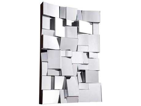Elegant Lighting Modern 31.5''W x 47''H Clear Wall Mirror