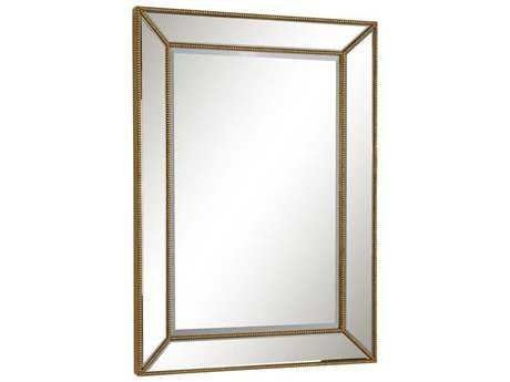 Elegant Lighting Modern 32''W x 45''H Gold & Clear Wall Mirror