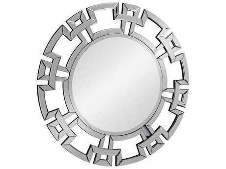 Elegant Lighting Modern 34'' Round Clear Wall Mirror