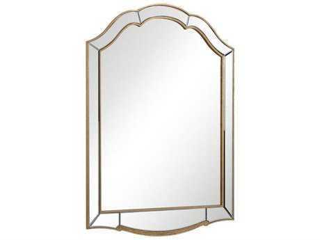 Elegant Lighting Antique 34''W x 49''H Gold & Clear Wall Mirror