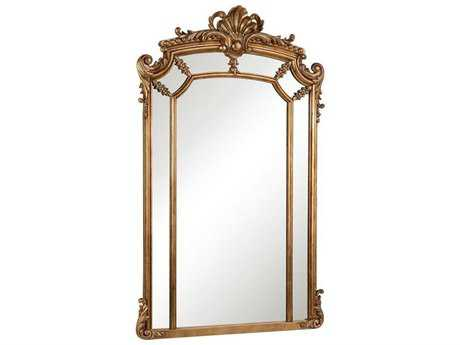 Elegant Lighting Antique 30''W x 48''H Gold & Clear Wall Mirror