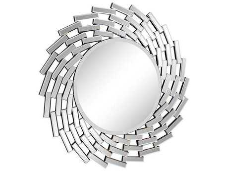 Elegant Lighting 40'' Round Clear Wall Mirror