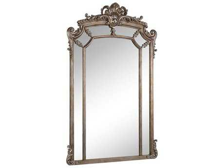 Elegant Lighting Antique 30''W x 48''H Silver & Clear Wall Mirror