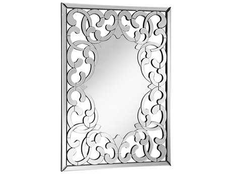 Elegant Lighting Modern Clear 32''W x 44''H Rectangular Wall Mirror