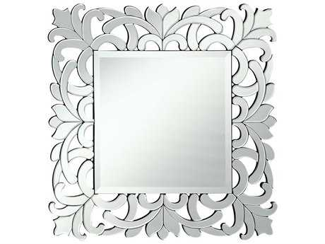 Elegant Lighting Modern Clear 32'' Wide Square Wall Mirror