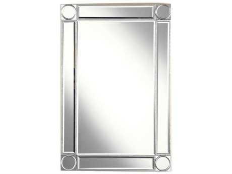 Elegant Lighting Audrey 24''W x 36''H Silver & Clear Wall Mirror