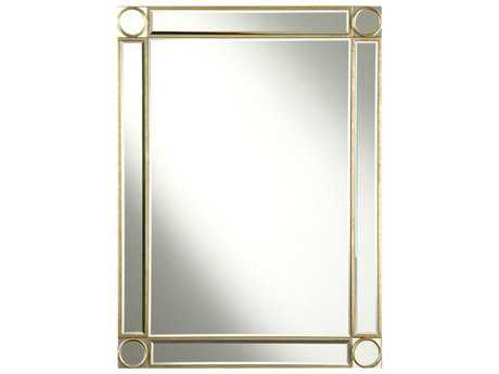 Elegant Lighting Audrey 30''W x 40''H Gold & Clear Wall Mirror