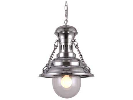 Elegant Lighting Industrial Chrome 18'' Wide Pendant Light