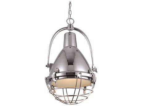 Elegant Lighting Industrial Chrome 16'' Wide Pendant Light