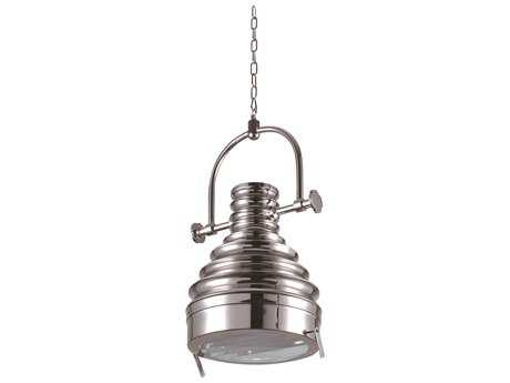 Elegant Lighting Industrial Brushed Nickel 16'' Wide Pendant Light