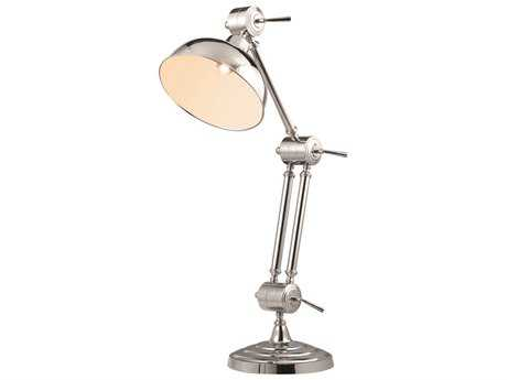 Elegant Lighting Vintage Task Chrome Floor Lamp