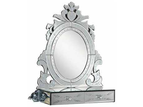 Elegant Lighting Venetian 25.5''L x 28.5''H Clear Wall Mirror