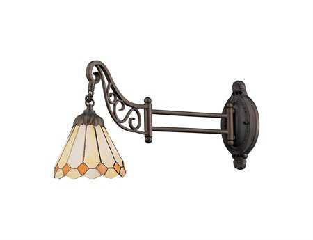 Elk Lighting Mix-N-Match Tiffany Bronze Swing Arm Light