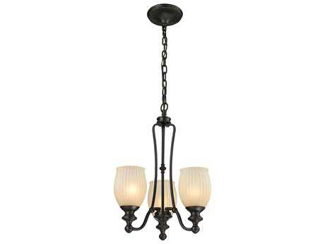 Elk Lighting Park Ridge Oil Rubbed Bronze Three-Light 15'' Wide Mini-Chandelier