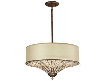 Elk Lighting Crystal Spring Spanish Bronze Four-Light 23'' Wide Pendant