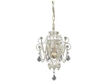 Elk Lighting Elise Antique White 10'' Wide Mini-Chandelier
