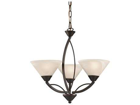 Elk Lighting Oil Rubbed Bronze Three-Light 20'' Wide Mini-Chandelier