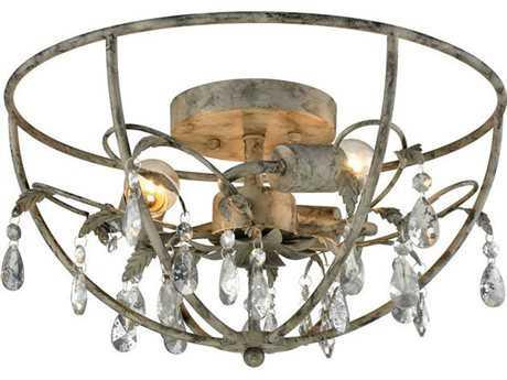Elk Lighting Bridget Three-Light Semi-Flush Mount Light