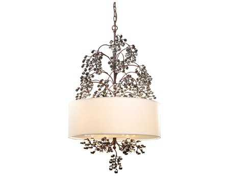 Elk Lighting Winterberry Antique Darkwood Four-Light 22'' Wide Pendant Light