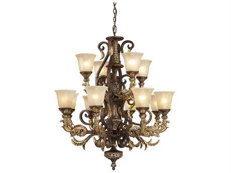 Elk Lighting Regency Burnt Bronze 12-Light 35'' Wide Chandelier