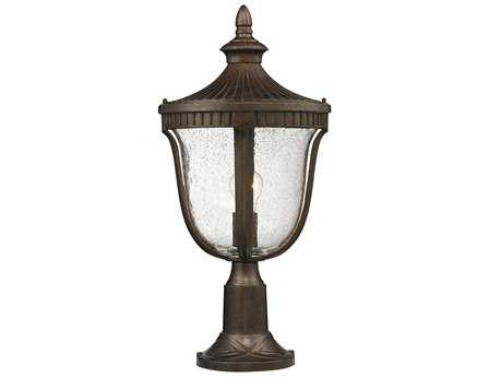 Elk Lighting Worthington Weathered Rust Outdoor Post