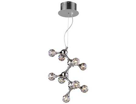 Elk Lighting Molecular Chrome with Rainbow Glass Nine-Light 13'' Wide Mini Chandelier