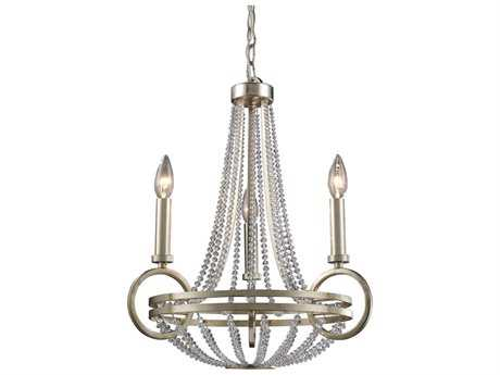 Elk Lighting New York Renaissance Silver Three-Light 18'' Wide Mini Chandelier