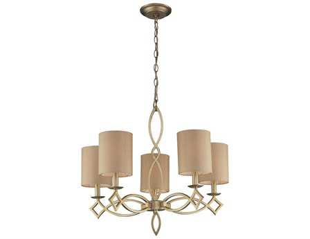 Elk Lighting Estonia Aged Silver Five-Light 25'' Wide Chandelier