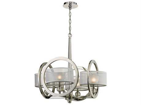 Elk Lighting Corisande Polished Nickel Four-Light 25'' Wide Chandelier