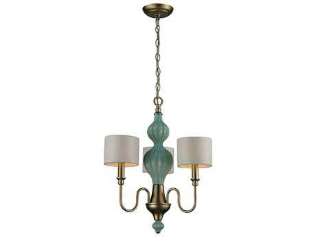 Elk Lighting Lilliana Aged Silver Three-Light 18'' Wide Mini-Chandelier