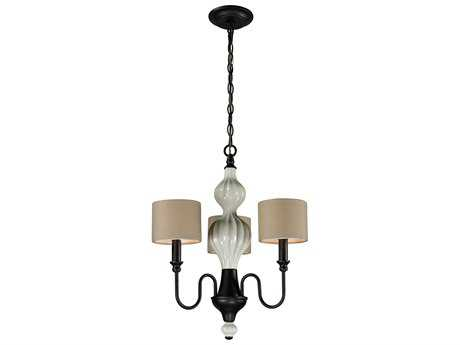 Elk Lighting Lilliana Aged Bronze Three-Light 18'' Wide Mini-Chandelier