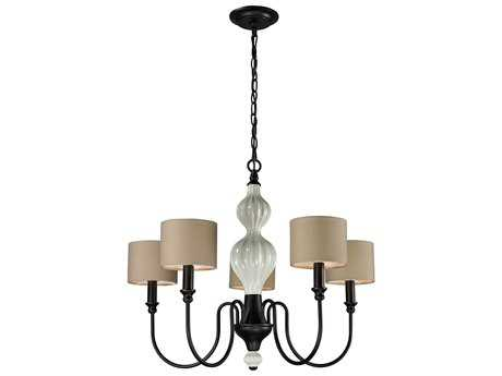 Elk Lighting Lilliana Aged Bronze Five-Light 26'' Wide Chandelier