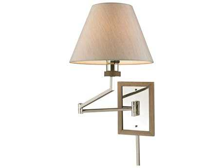 Elk Lighting Madera Polished Nickel Swing Arm Light