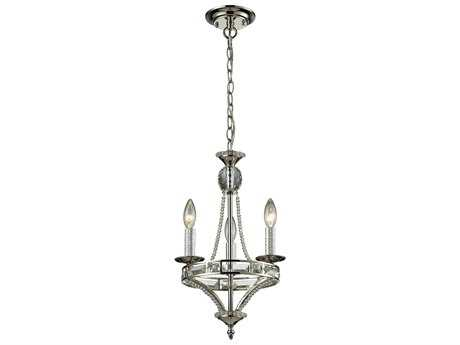 Elk Lighting Aubree Polished Nickel Three-Light 11'' Wide Mini-Chandelier