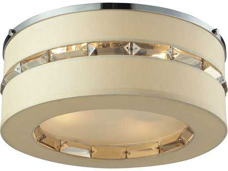 Elk Lighting Regis Polished Chrome Four-Light 15'' Wide Semi-Flush Mount Light