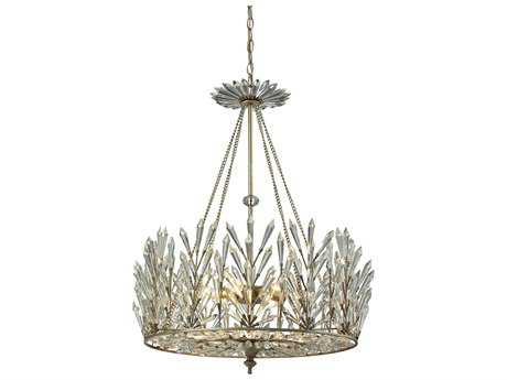 Elk Lighting Viva Natura Aged Silver Six-Light 23'' Wide Chandelier