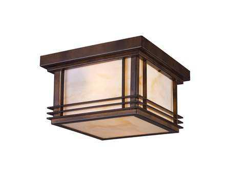 Elk Lighting Blackwell Hazelnut Bronze Two-Light Flush Mount Light
