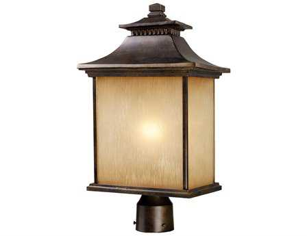 Elk Lighting San Gabriel Hazelnut Bronze Outdoor Post