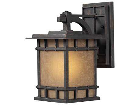 Elk Lighting Newlton Weathered Charcoal 7'' Wide Outdoor Wall Light