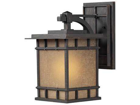 Elk Lighting Newlton Weathered Charcoal 9'' Wide Outdoor Wall Light